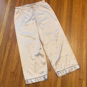 Victoria's Secret satin stripe pajama pants size L